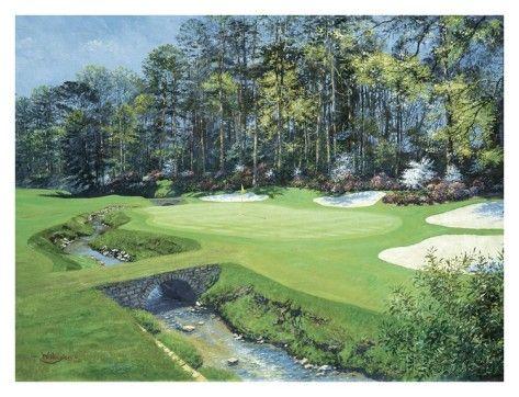 The 13th At Augusta, Azalea Poster by Bernard Willington at AllPosters.com
