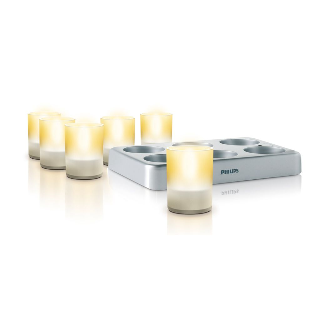 TEALIGHTS - 6 Photophores LED Philips