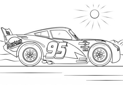 Lightning Mcqueen From Cars 3 Coloring Page From Disney Cars Category Select From 25655 Prin Cars Coloring Pages Race Car Coloring Pages Disney Coloring Pages