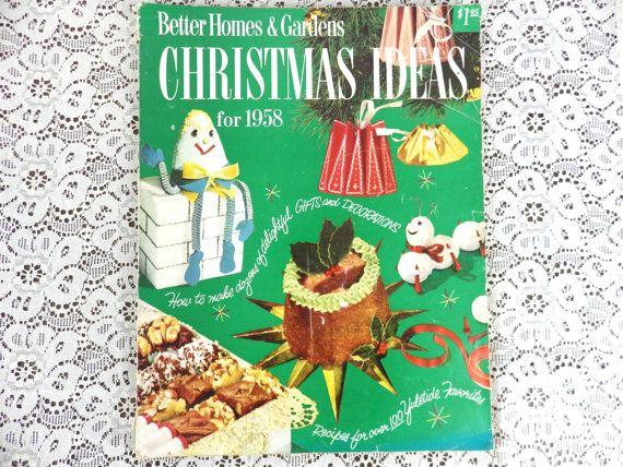 Vintage 1958 Magazine - Christmas Theme - Better Homes & Gardens ...