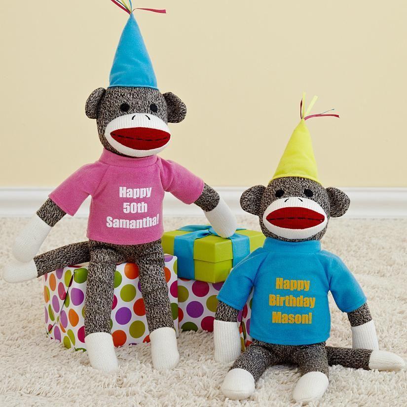 Birthday Sock Monkey Birthday wishes, Birthday, Party hats