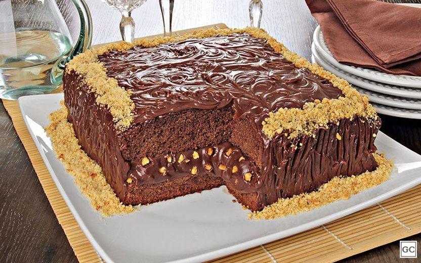 Bolo Cremoso De Chocolate Com Amendoim Bolos Cremosos Recheio