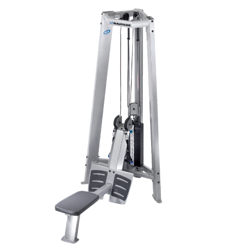 nautilus free weights dualpulley row tower  free weights