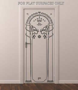 Lord of The Rings Gates of Moria Hobbit Door or Wall Art Decor Decal | eBay & Lord of the rings gates of moria hobbit door or wall art decor ...