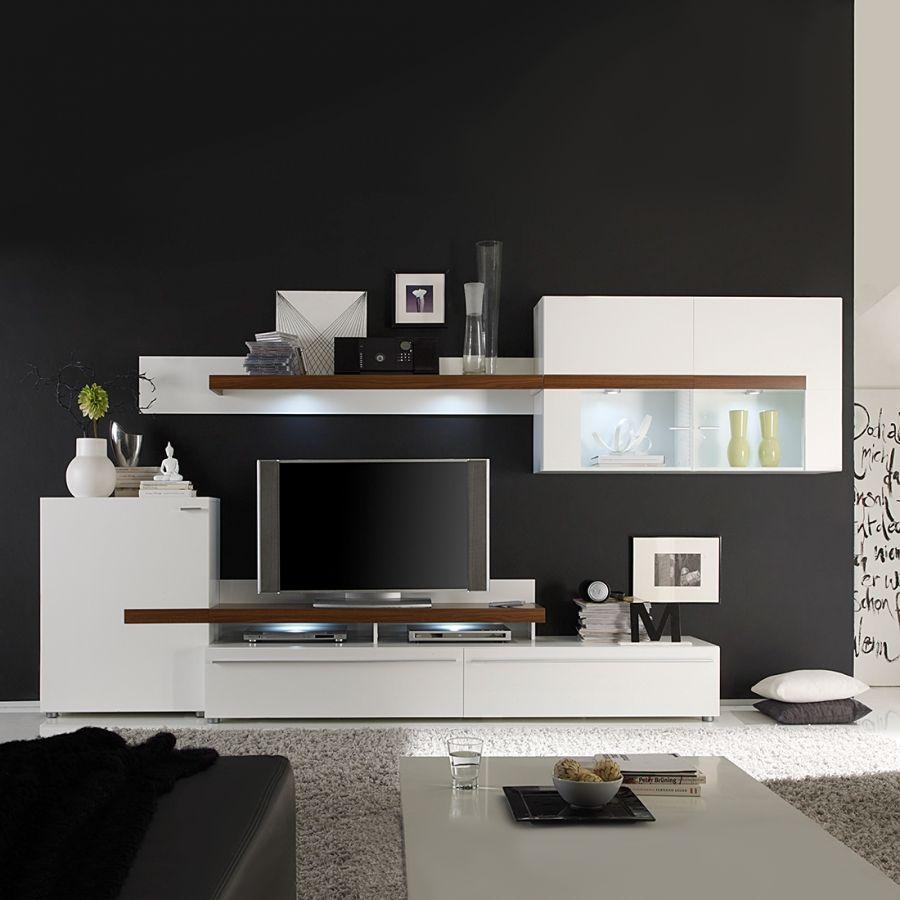 Luxury Gro e Auswahl moderner Wohnw nde in Hochglanz Holz u vielen Farben Vieles sofort lieferbar und teils montiert Kaufen Sie Ihre neue Wohnwand g nstiger