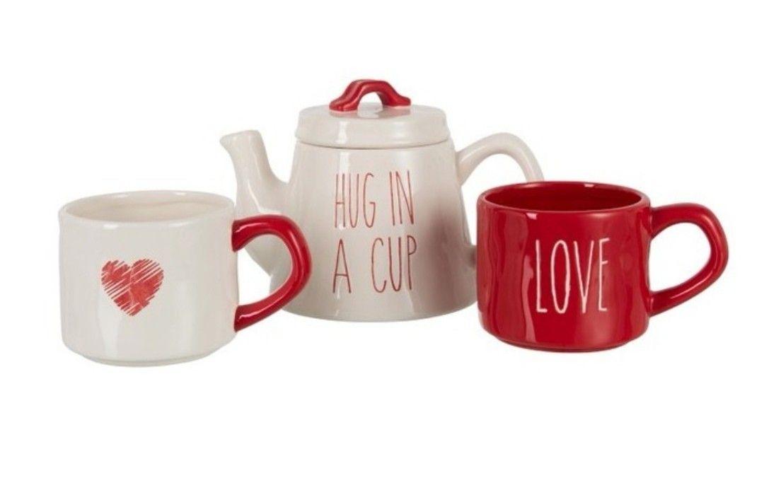théière + 2 mugs - Hug in a cup - love - idée cadeau noël 2019 - www.boutique-sauvage.com #marchédenoel