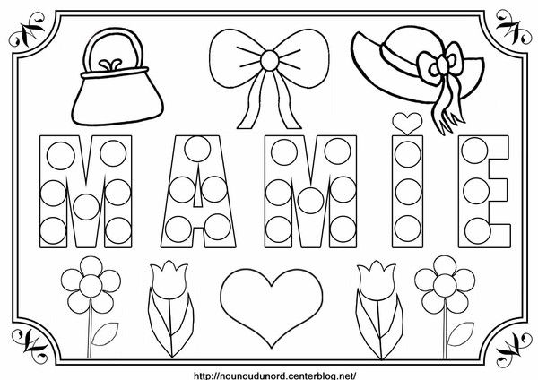Coloriage Mamie Gateaux.Coloriage A Gommettes Mamie Sandra Diy For Kids Happy Mothers