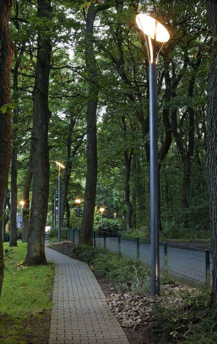 Farola de jardín / urbana / moderna / de acero inoxidable