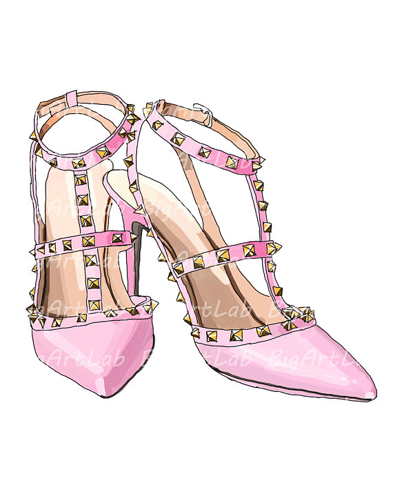 Valentino Shoes Psd Files Printable Art Instant Download Fashion
