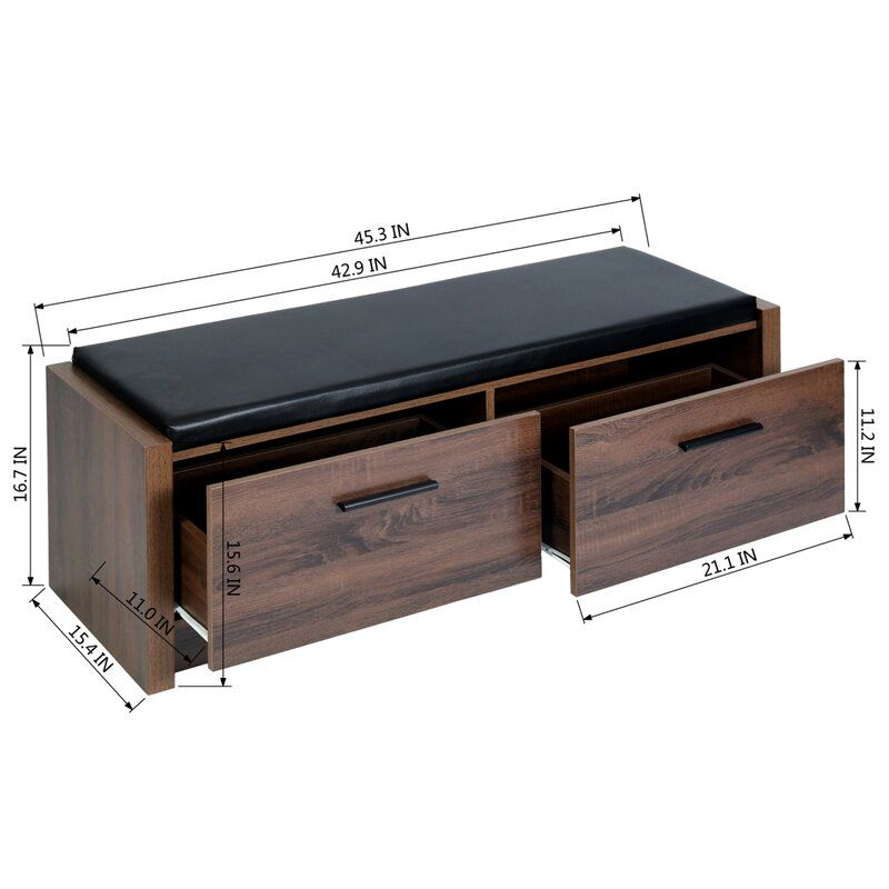 Lawrence Faux Leather Storage Bench In 2020 Leather Storage Bench Bench With Shoe Storage Storage Bench Bedroom