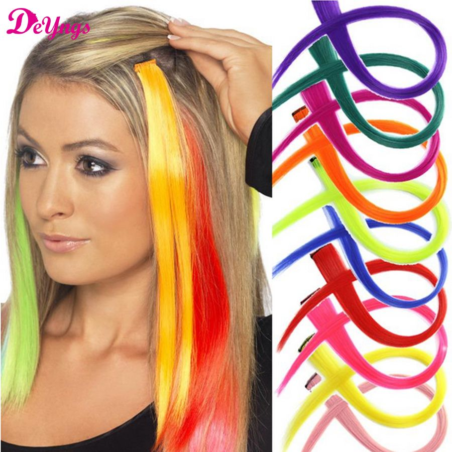 16 colors long straight clip hair extensions false synthetic hair 16 colors long straight clip hair extensions false synthetic hair pieces style clip in hair styles pmusecretfo Image collections
