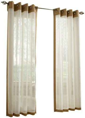 Stylemaster Soho 55 By 63 Inch Sheer Grommet Panel With Faux Silk