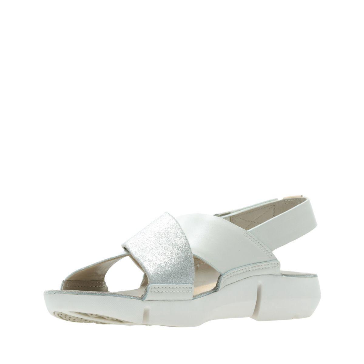 Corte Novela de suspenso alguna cosa  Clarks Tri Chloe - Womens Sandals White/Silver 8.5   Womens sandals, Shoe  care kit, Sandals