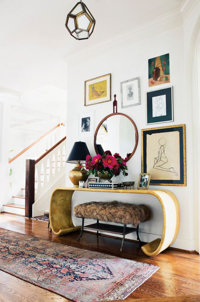 A Nashville Home Where Bold Prints Mix With Soft Pastels | Elegant,  Inspiration And Entryway Decor
