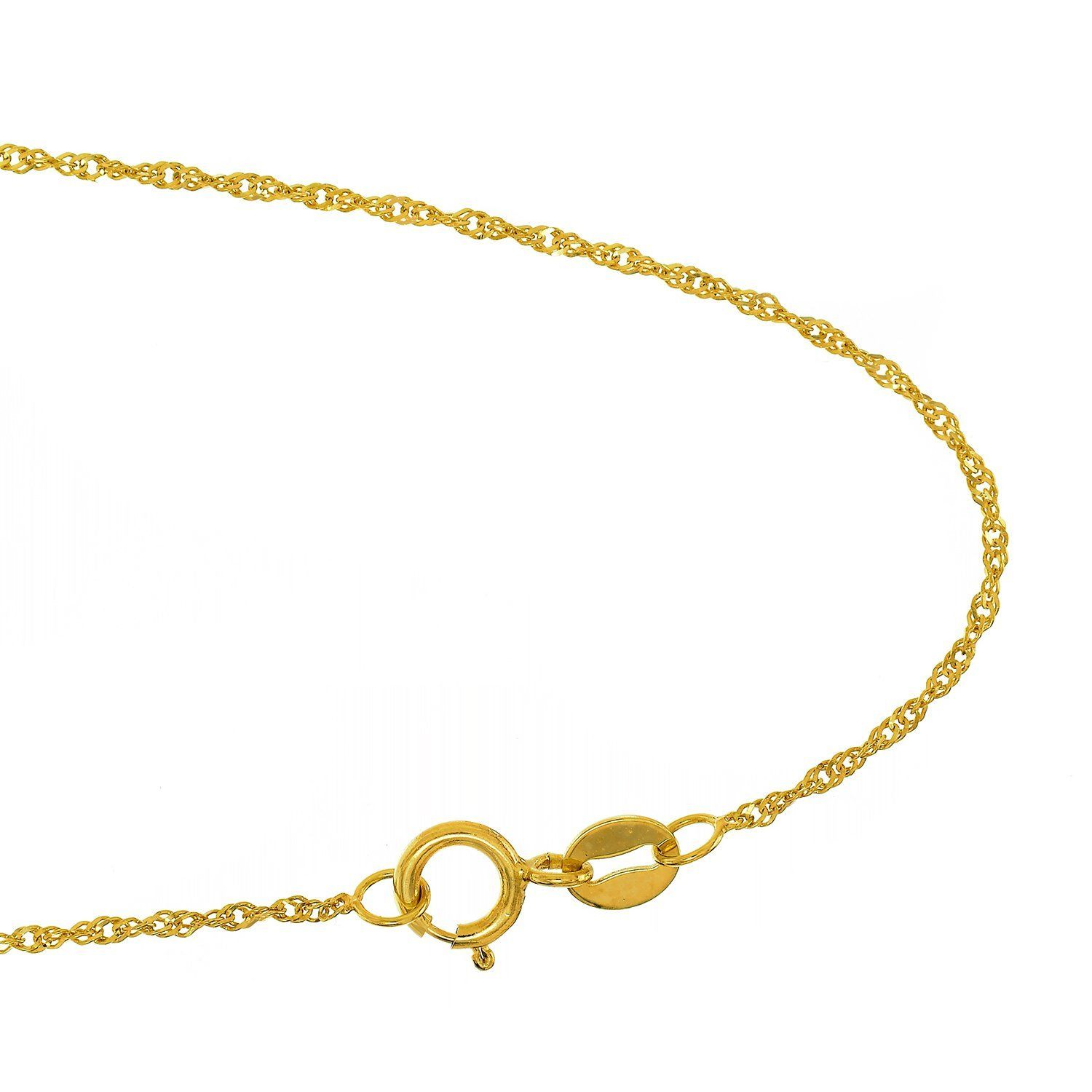 anklet gold with cut solid pin diamond oval ext chain inch dots