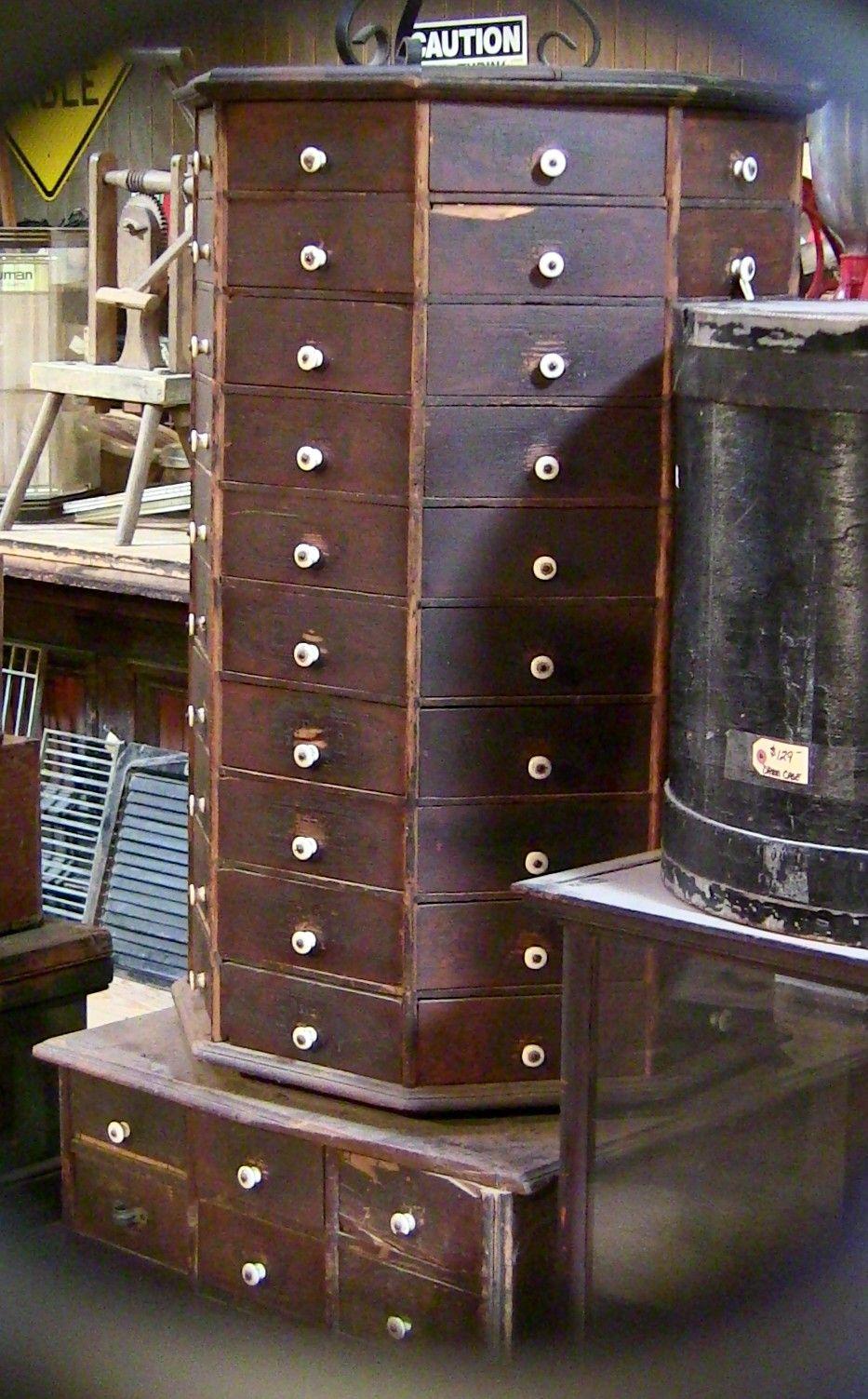 Vintage Wood Drawer Cabinet @ Davidu0027s Stove Shop, Weatherford, TX