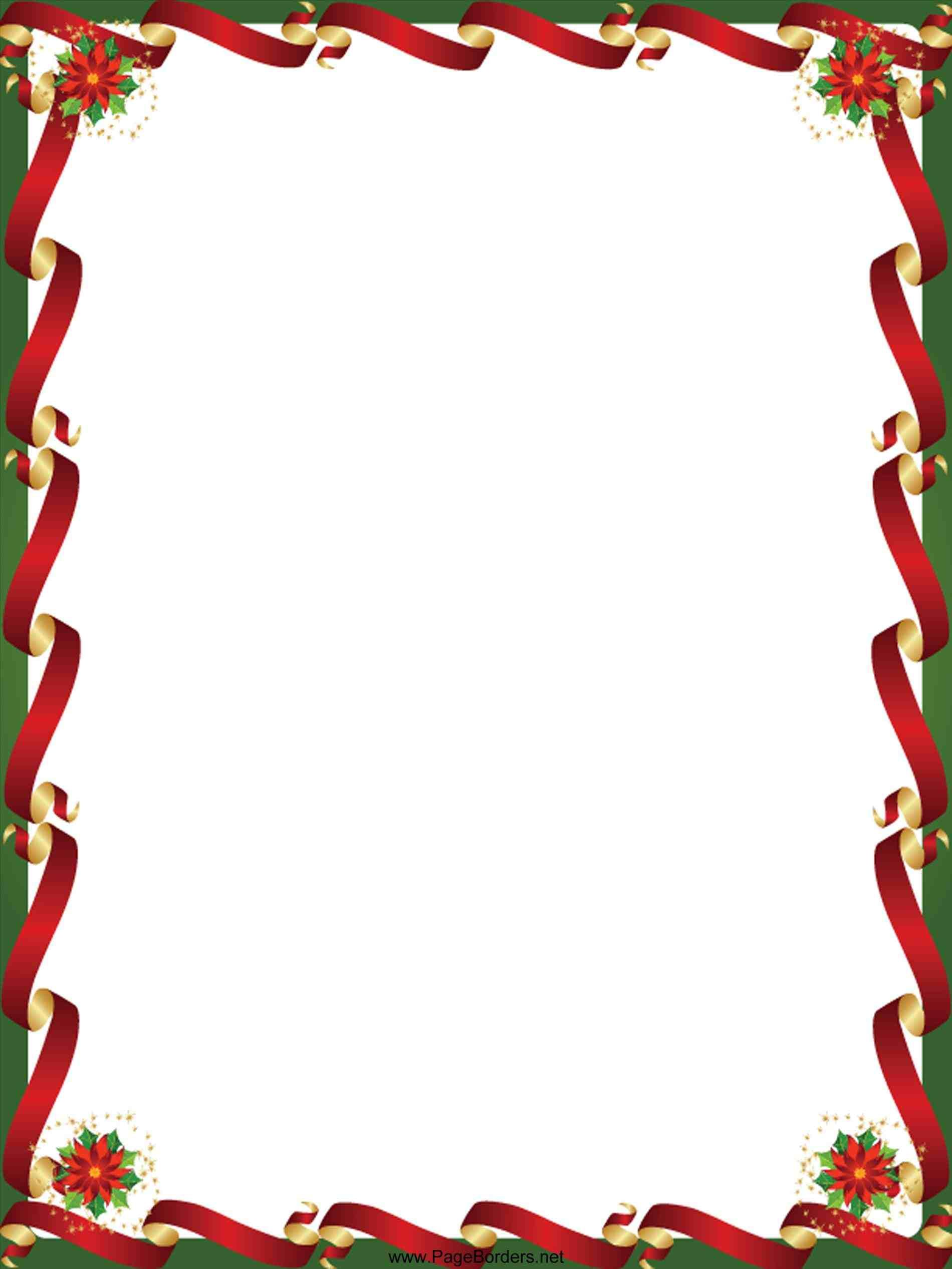 This Free Christmas Border Templates Download Happy New