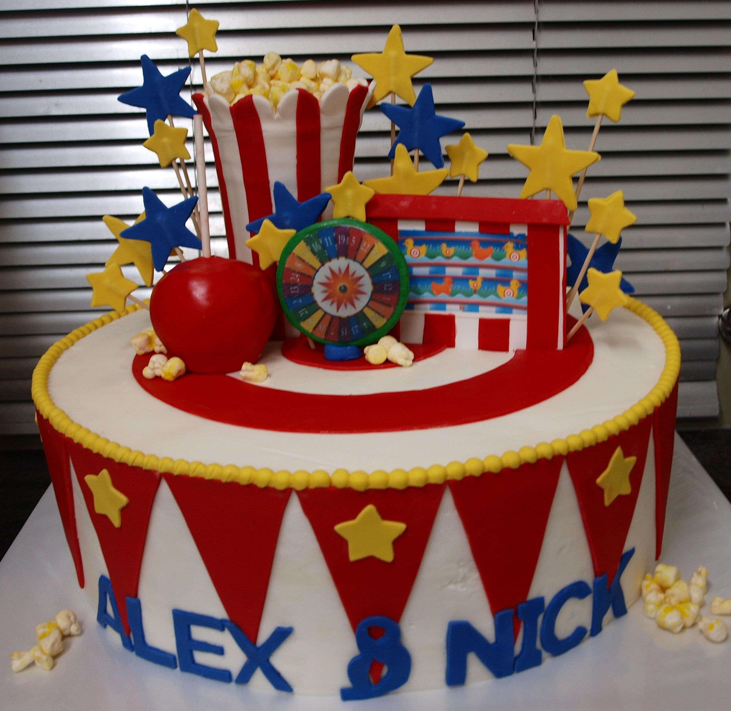 Carnival Themed Birthday Cake See More Instagram