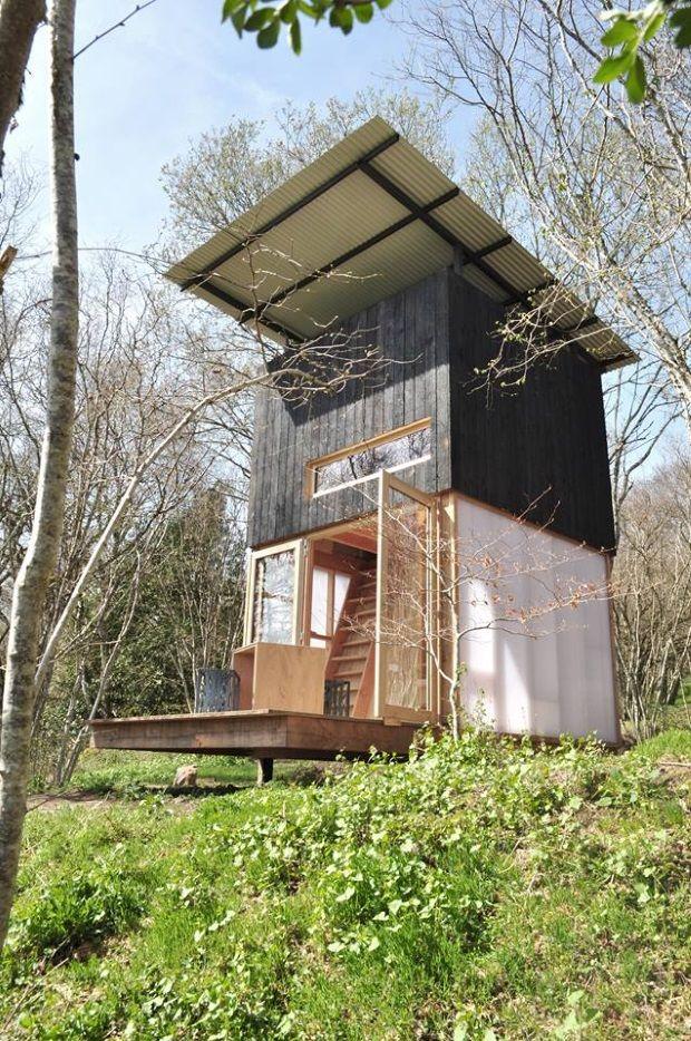 Bois Basalte_Photo 1 Малая деревянная архитектура Small wooden - Maison En Bois Sur Pilotis