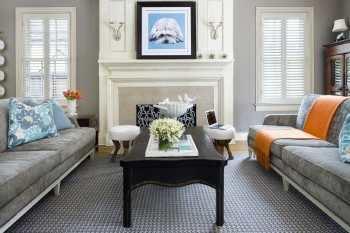 farbideen wohnzimmer grautöne wohnzimmereinrichtung Wohnzimmer