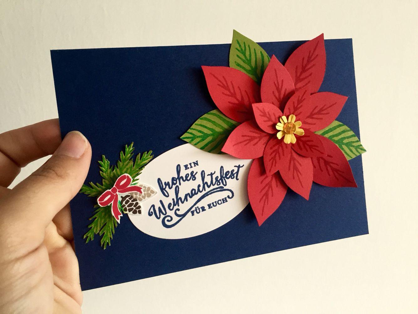 Diy Christmas Card 3d Christmas Star Selfmade Handcrafted Cards