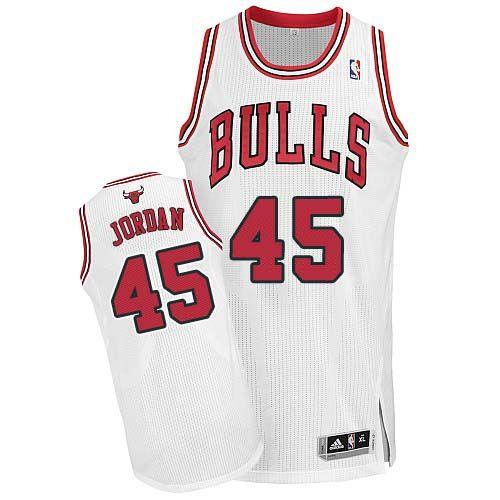 Chicago Bulls #23 Michael Jordan White Kids Jersey