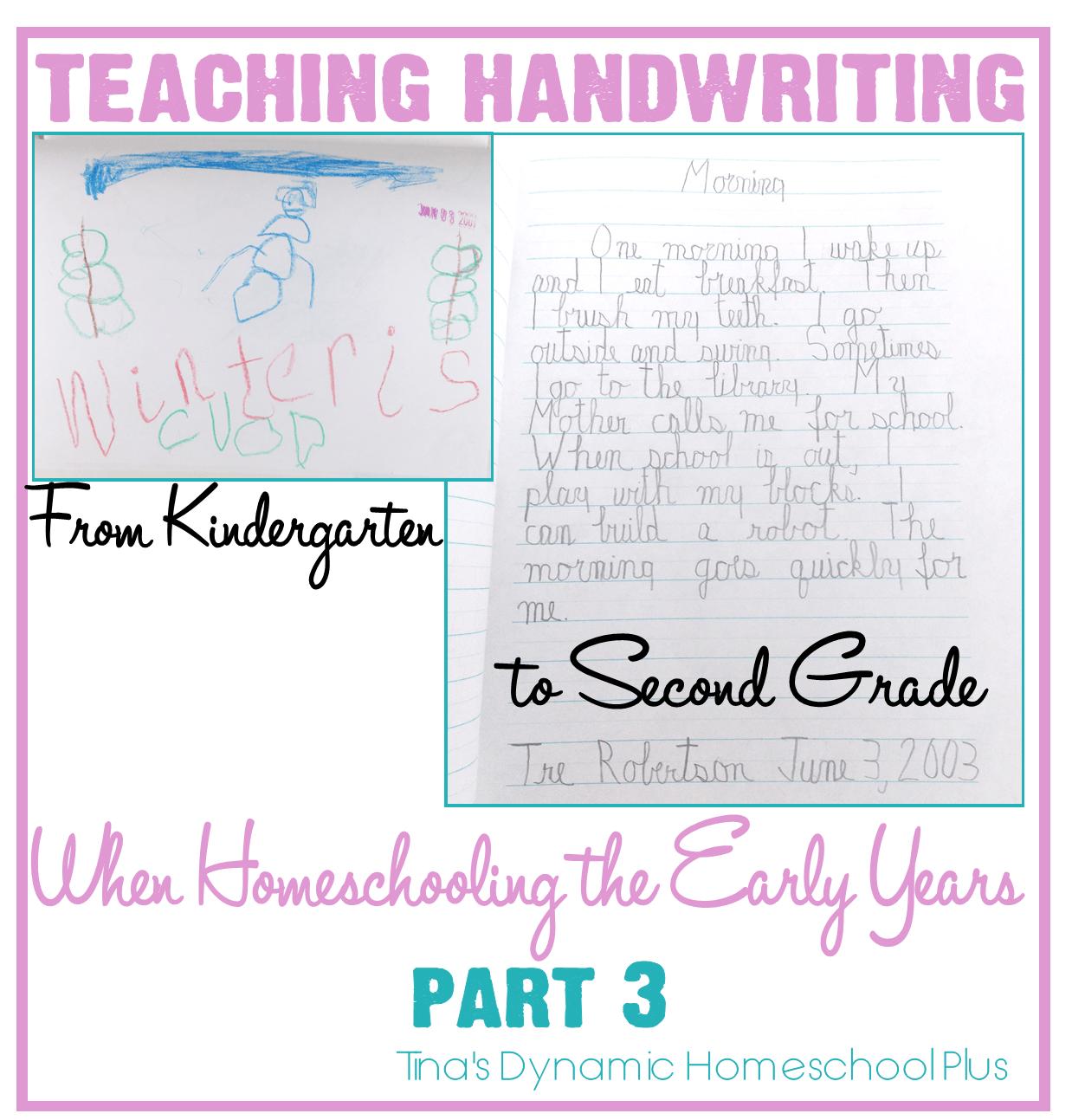 Teaching Handwriting When Homeschooling The Early Years