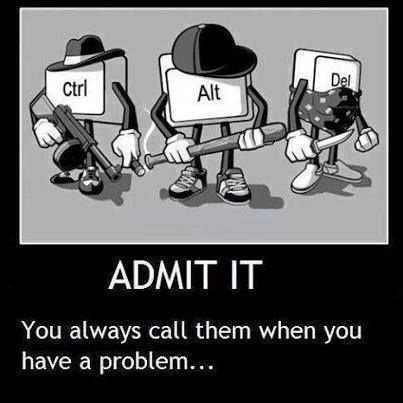 Ctrl, Alt, Del will only get you out of the problem. Contact VRT to solve your technical problem.   http://virtuerecoverytechnology.webs.com/  #VRTsolvestechnicalproblems