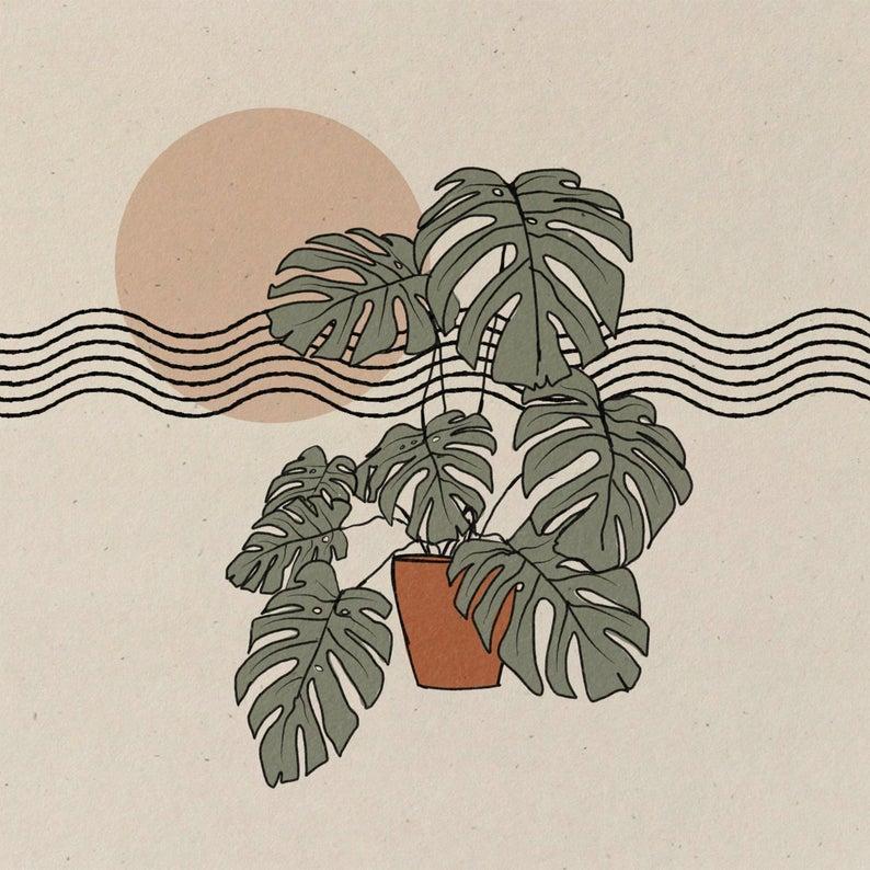 Bend  || Art Print || Vintage Inspired Art || Insp