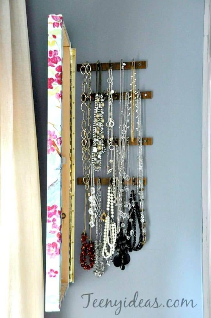 Create a Hidden Jewelry Organizer