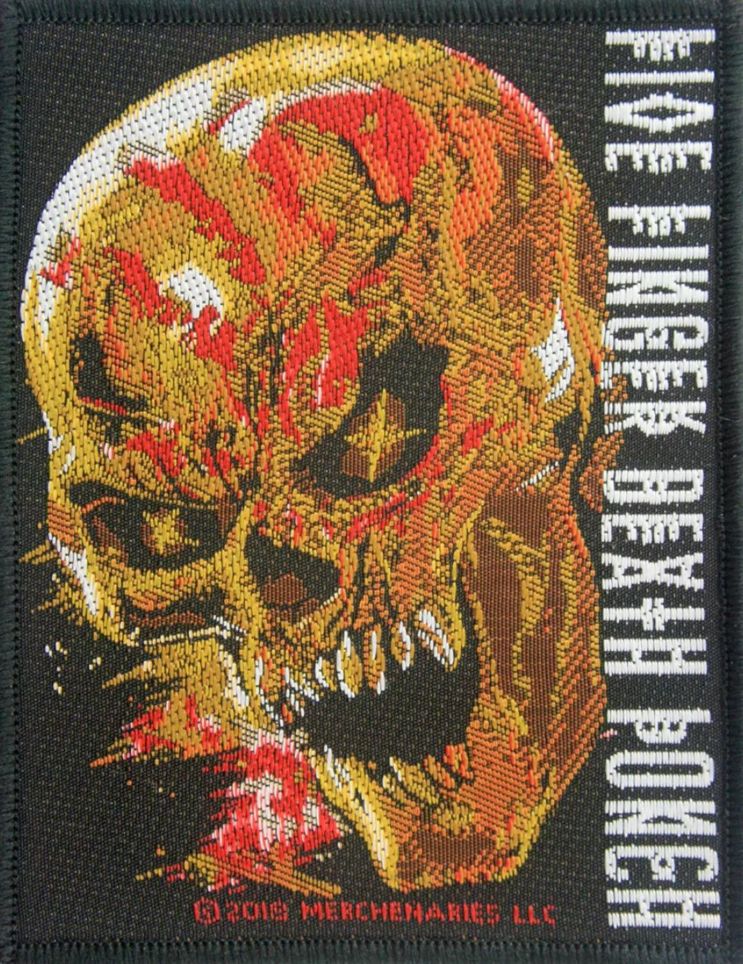 FIVE FINGER DEATH PUNCH IRON or SEW-ON PATCH
