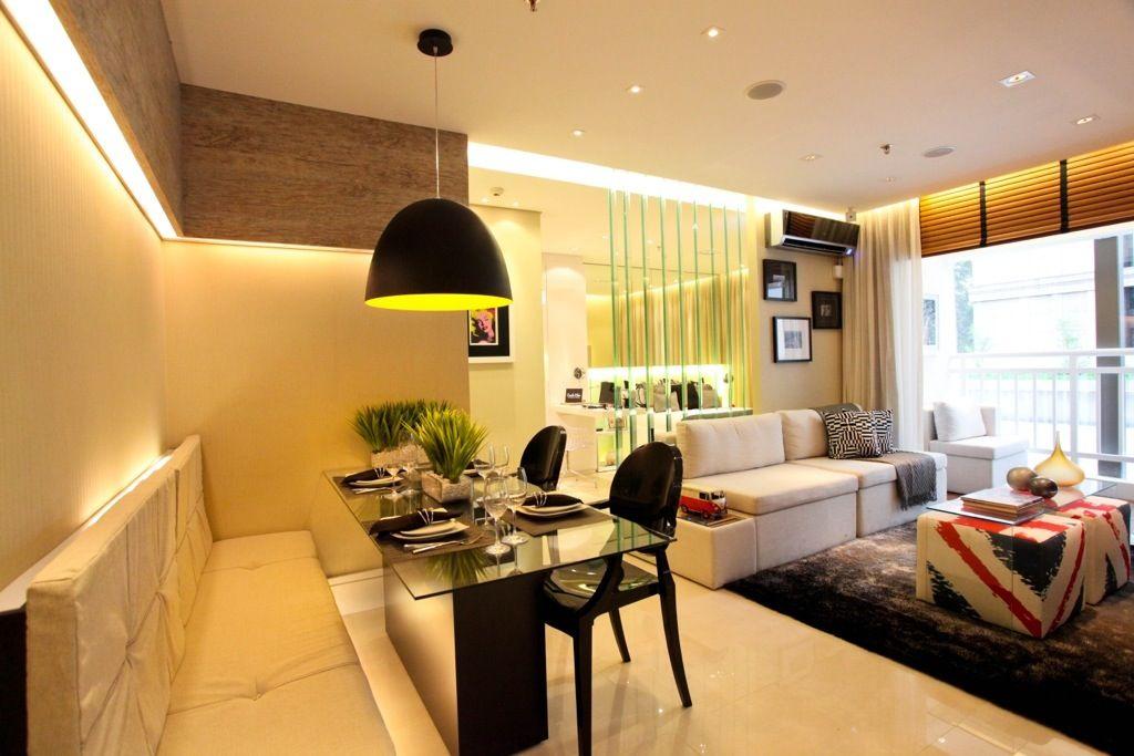 Sala De Jantar Com Banco Fixo ~ Banco fixo na mesa ótimo para economizar espaço Lindo pendente