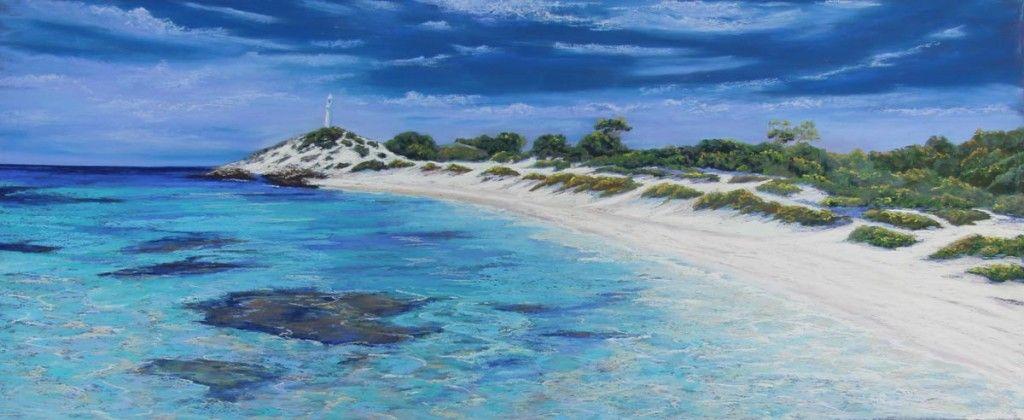 Seascape Painting - Ann Steer - The Basin Rottnest