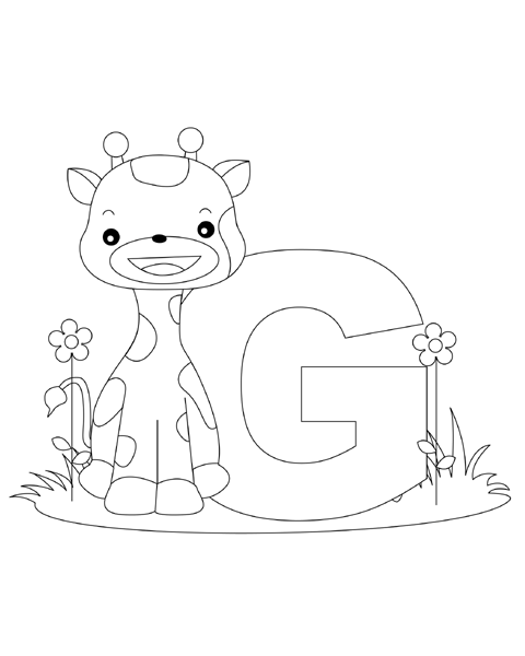 Letter G Coloring Page Giraffe Coloring Pages Abc Coloring Pages Animal Alphabet Letters