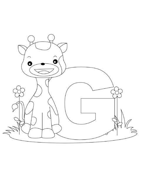 Letter G Coloring Page Abc Coloring Pages Pinterest Alphabet