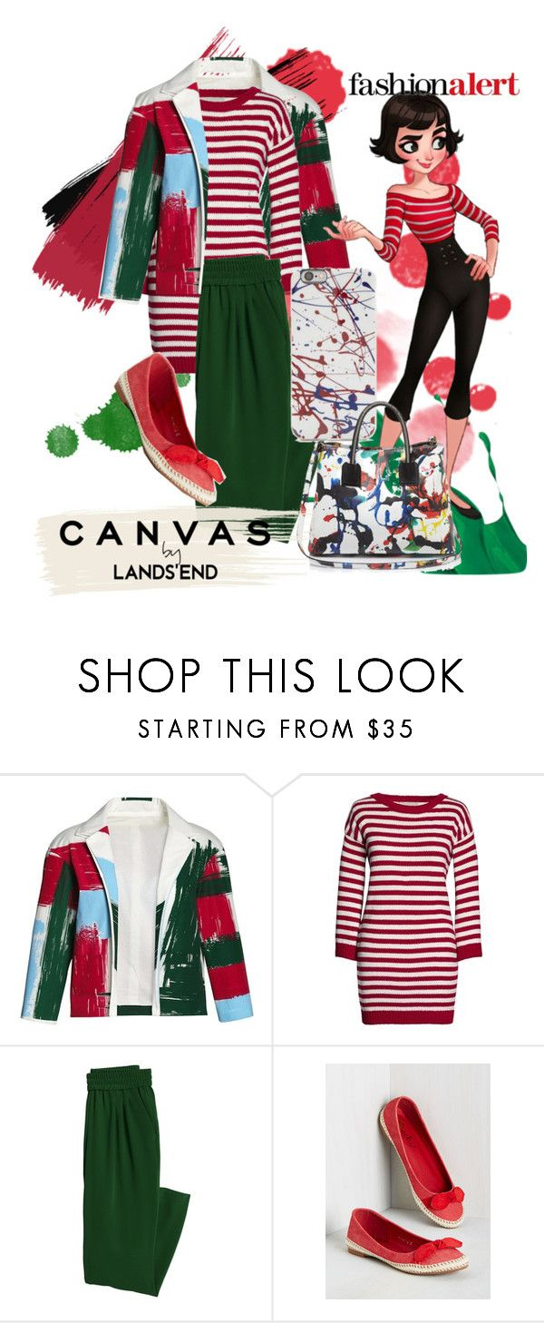 """""""Paint Your Look With Canvas by Lands' End: Contest Entry"""" by peeweevaaz ❤ liked on Polyvore featuring Lands' End, Canvas by Lands' End, Milly, casual, outfit, fun, polyvoreeditorial and polyvorefashion"""