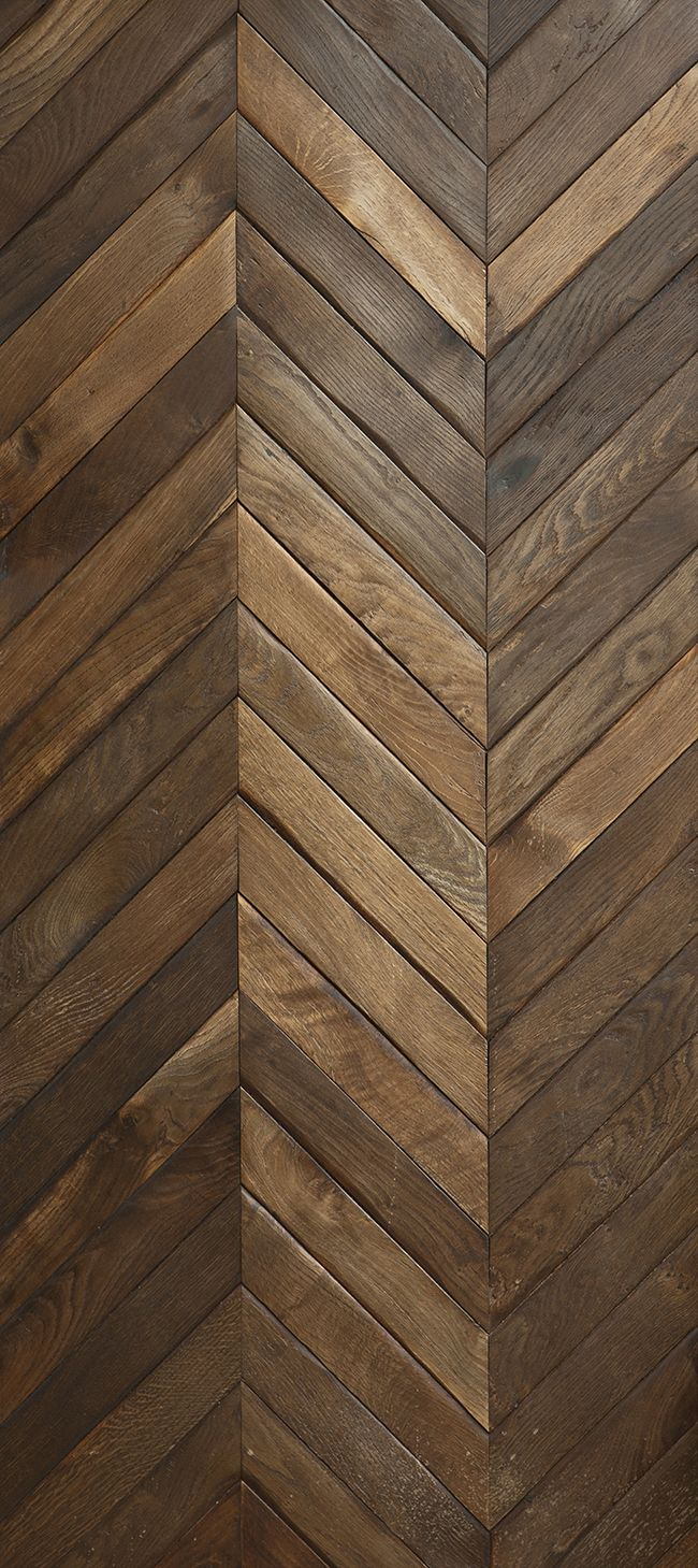 Reclaimed french oak in large chevron pattern