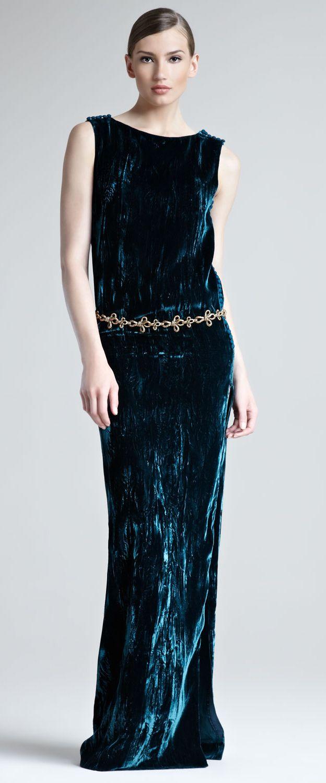 Oscar de la renta crushed velvet dress velvet pinterest