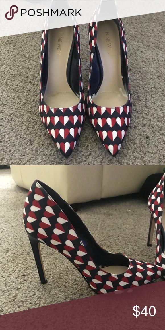 NineWest Heels My Posh Closet Pinterest Shoes Heels Customer Delectable Shoe Wear Patterns Outside Heel