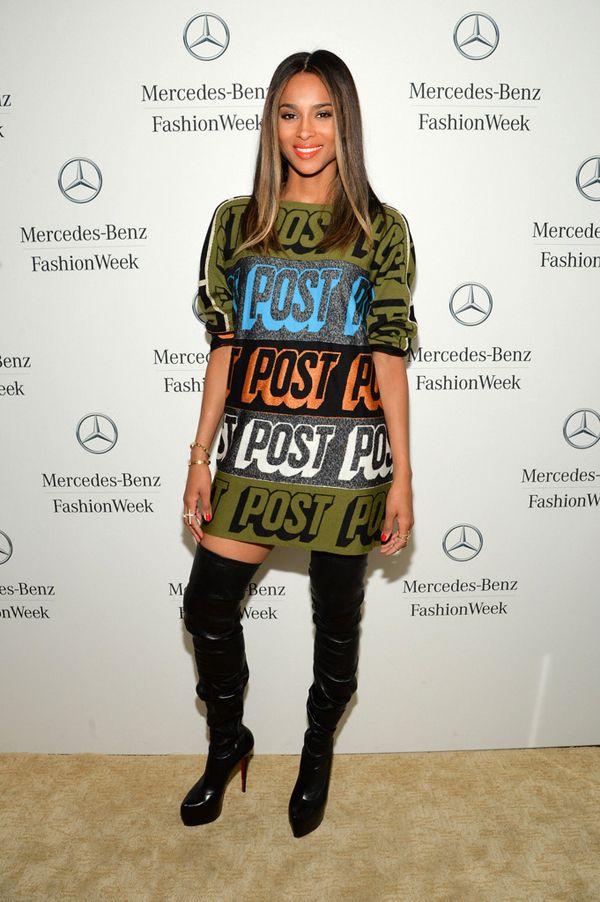 Ciara-New-York-Fashion-Week-Spring-2014-Bernhard-Willhelm-Fall-2013-Dress