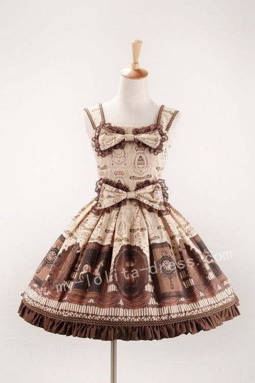 #6.  Aiyou Lolita.  Classic Sweet Time Machine Lolita JSK.  $144.99.  Detach lower bow and make into headbow.