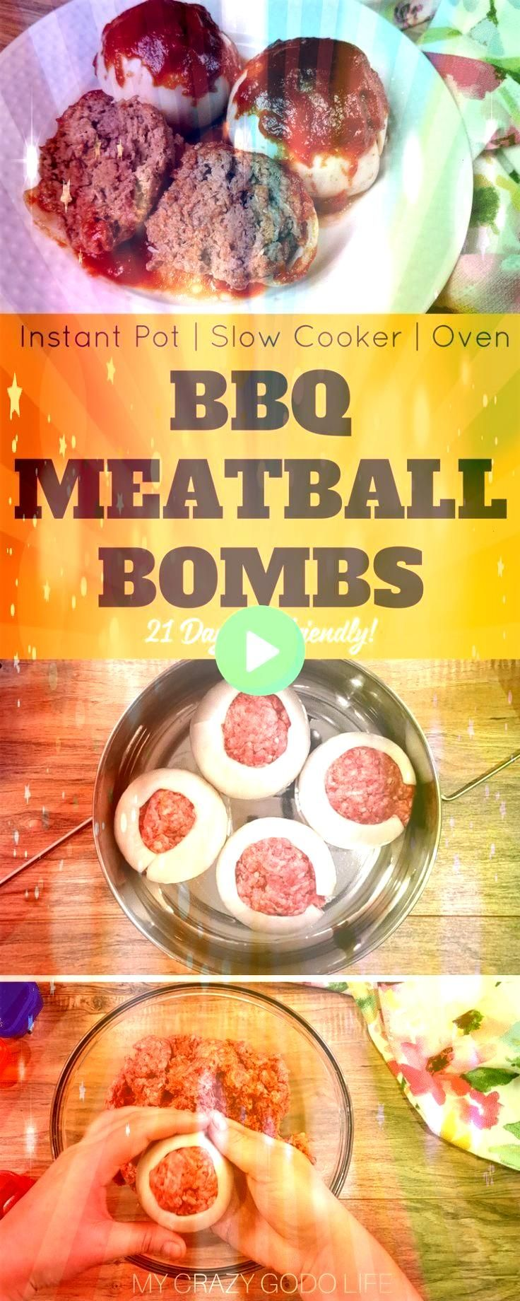 BBQ Meatloaf Bombs are a delicious and healthy dinner that is family friend  21 Day Fix Instant Pot Recipes Mini BBQ Meatloaf Bombs are a delicious and healthy dinner tha...