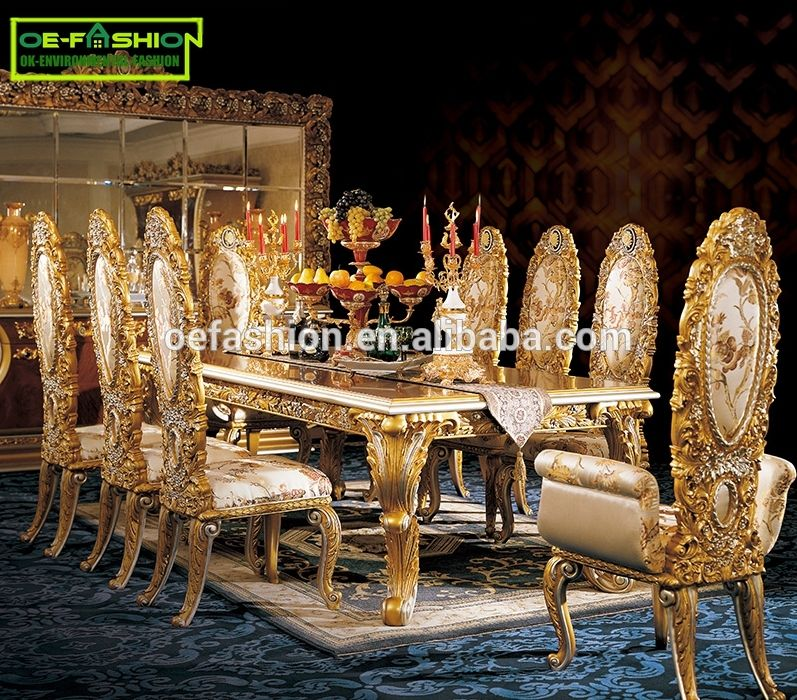 Popular Used In Home High Quality Luxury Classic Dining Table Royal Party Table View Party Tables Oe Fashion Product Details From Foshan Oe Fashion Furniture Glamourous Dining Room Classic Dining Room Luxury