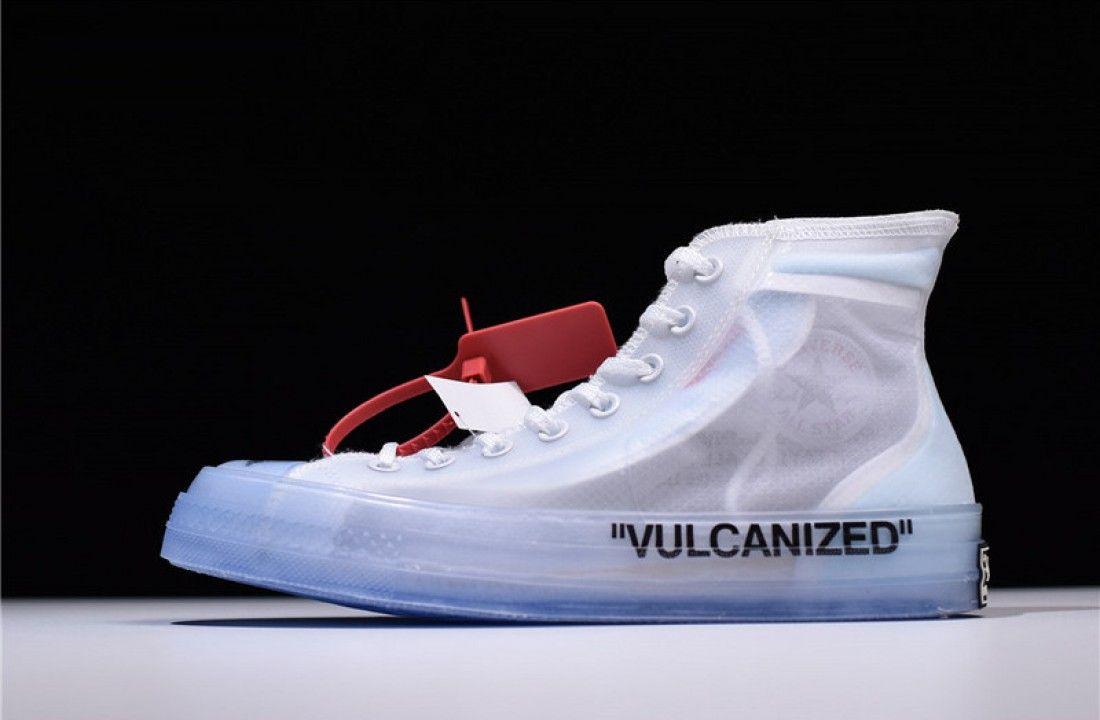 Converse X Off White Chuck Taylor All Star Vulcanized Hi The 10 162204c Off White Shoes White Shoes White Chuck Taylors