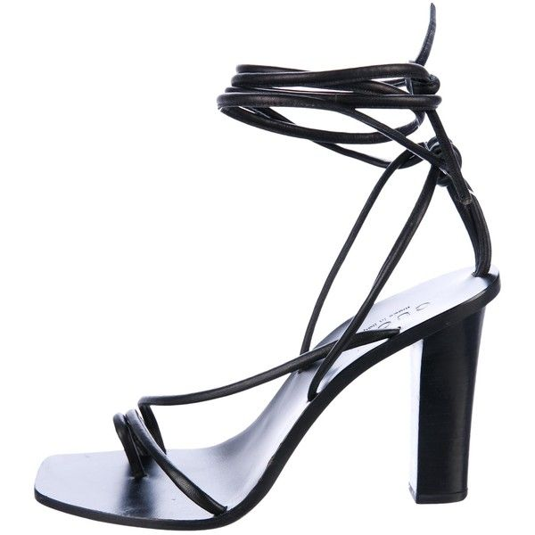 Pre-owned - Black Suede Sandals Rochas UhIai