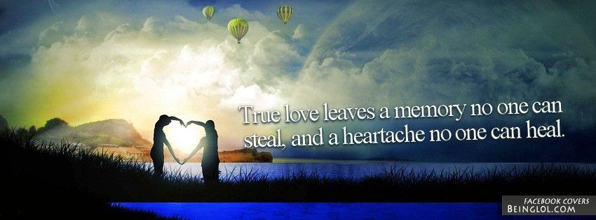 True Love Leaves A Memory Facebook Timeline Cover