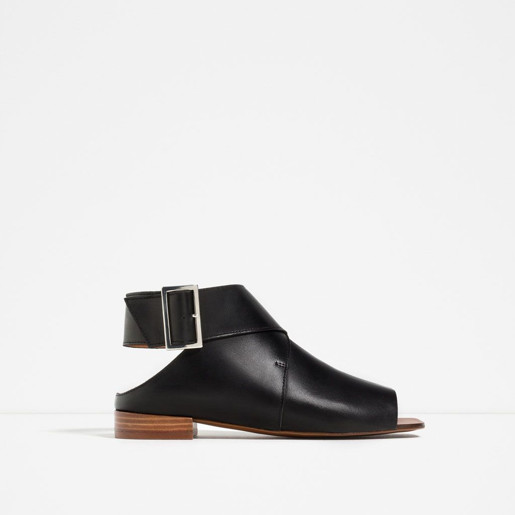 fad5c26d28 FLAT LEATHER BOOT-STYLE SANDALS-Shoes and bags-WOMAN-NEW IN | ZARA ...