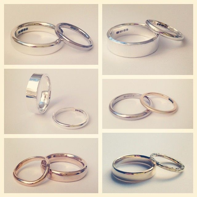 Some of the rings made in our make your own wedding rings