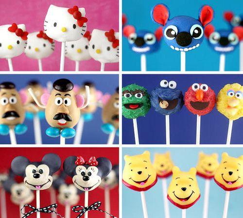 Character cake pops