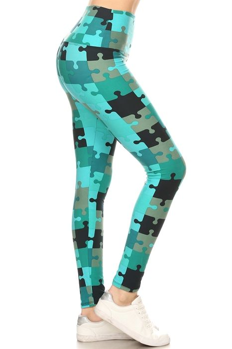 Puzzle Piece Yoga Band Leggings #313leggings #313boutique ...